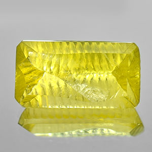 27.84 Ct. Concave Cut Natural Yellow Lemon Quartz Brazil