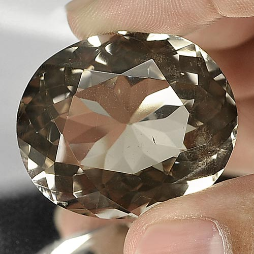 Unheated 100.00 Ct. Oval Shape Natural Smoky Quartz Gemstone