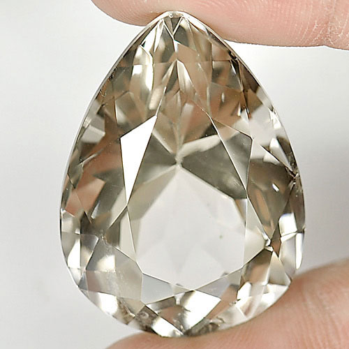 Nice Gemstone 74.96 Ct. Pear Shape Natural Smoky Quartz Brazil
