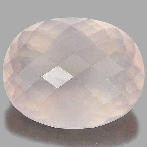 27.23 Ct. Clean Oval Checkerboard Natural Gem Rose Pink Quartz Unheated