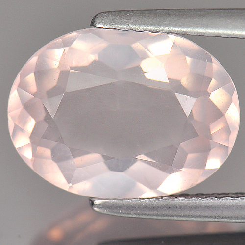 3.87 Ct. Clean Natural Gemstone Oval Shape Rose Pink Quartz Unheated Brazil