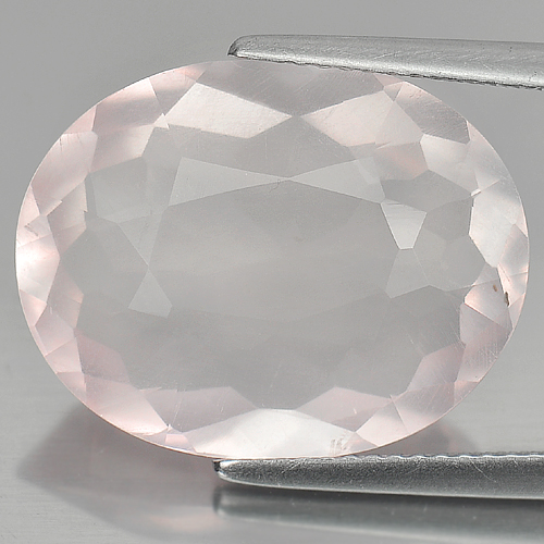 12.50 Ct. Clean Oval Shape Natural Gem Rose Pink Quartz Unheated