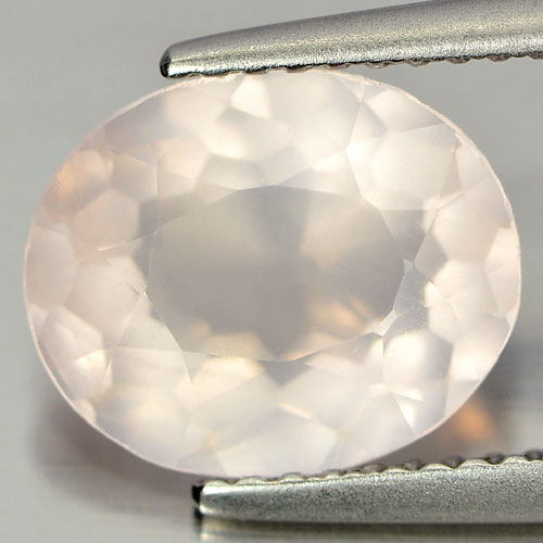 2.50 Ct. Clean Oval Natural Gem Rose Pink Quartz Unheated Brazil