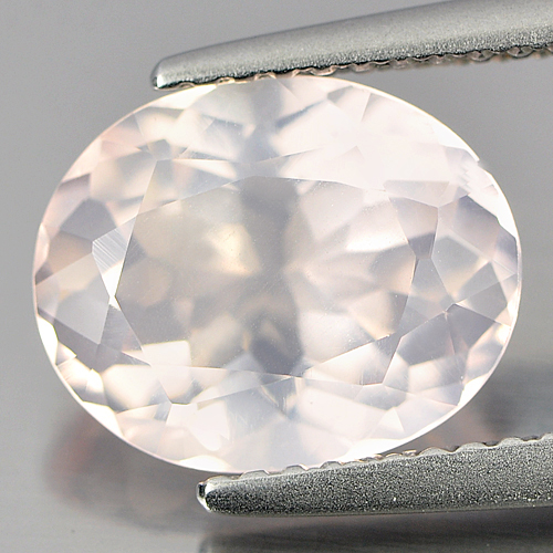 2.65 Ct. Oval Shape Natural Gem Rose Pink Quartz Unheated From Brazil