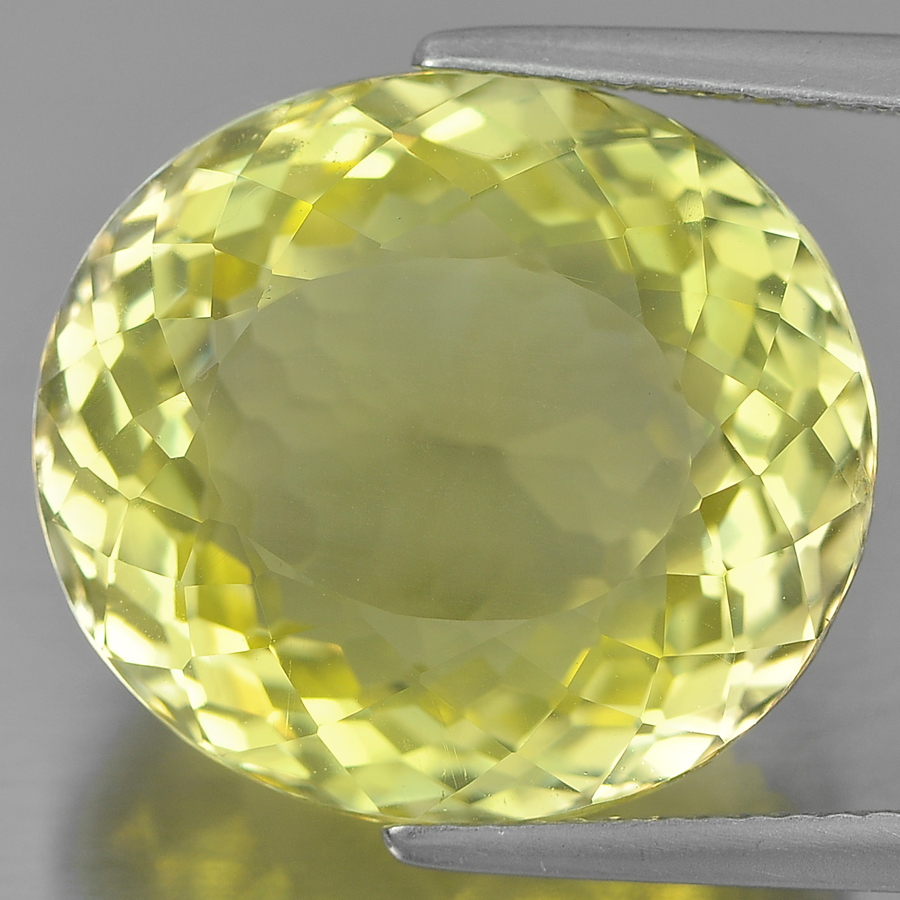 18.09 Ct. Charming Oval Shape Natural Yellow Lemon Quartz