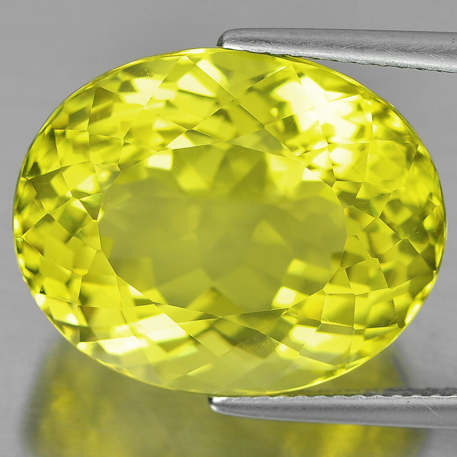 21.98 Ct. Lovely Oval Shape Natural Clean Yellow Lemon Quartz Brazil Unheated