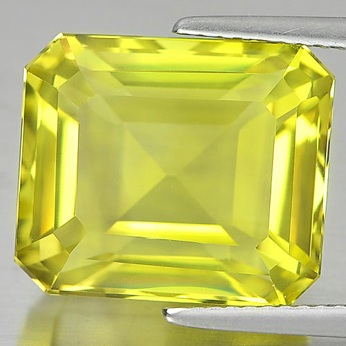 14.28 Ct. Good Cutting Octagon Shape Natural Clean Yellow Lemon Quartz Unheated
