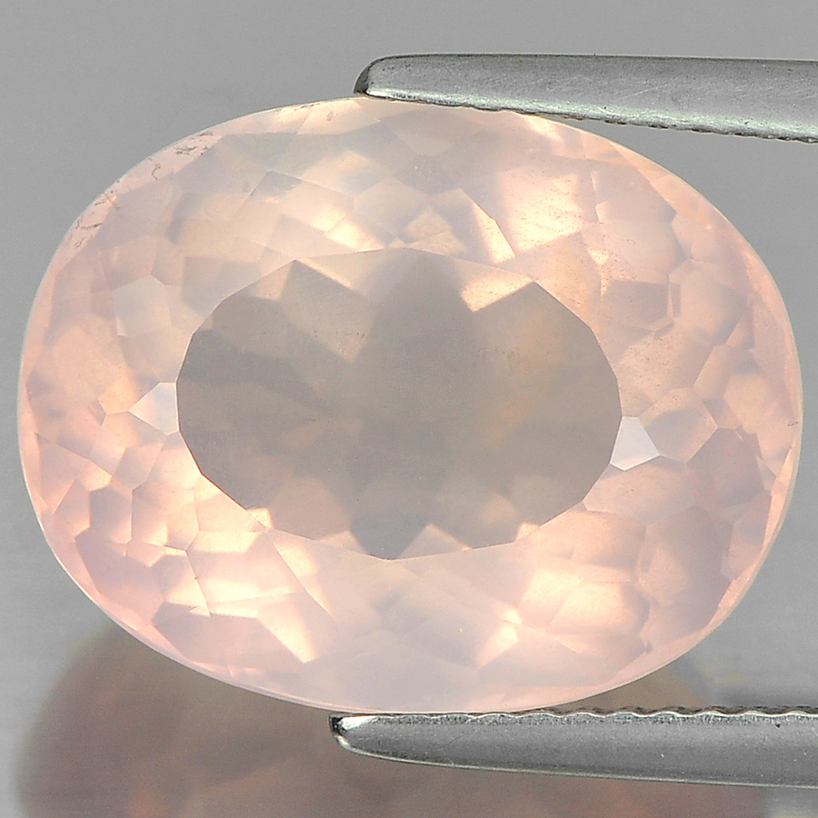 10.02 Ct. Alluring Oval Shape Gemstone Natural Rose Pink Quartz Unheated