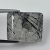 11.43 Ct. Baguette Cabochon 15 x 13 Mm. Natural Gem White Black Rutilated Quartz