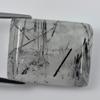 33.29 Ct. Baguette Cabochon 25 x 20 Mm. Natural Gem White Black Rutilated Quartz