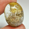 28.77 Ct. Oval Cabochon 22 x 16.6 Mm. Natural Gemstone Moss Quartz Unheated