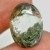 20.06 Ct. Oval Cabochon 19.6x14.4 Mm.Natural Gemstone Moss White Quartz Unheated