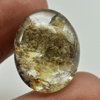 Unheated 27.32 Ct. Oval Cabochon Natural Gemstone White Brown Moss Quartz