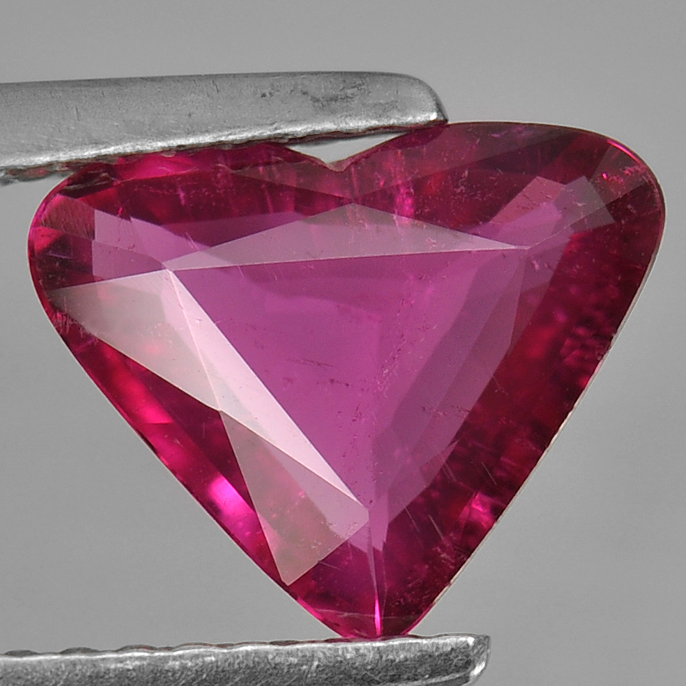 1.12 Ct. Heart Shape Natural Gem Purplish Pink Rubellite