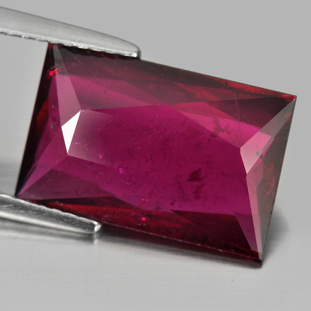 5.71 Ct. Baguette Shape Natural Purplish Pink Rubellite Gemstone