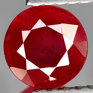 1.15 Ct 6 Mm. Calibrate Size Natural Blood Red Ruby Gem