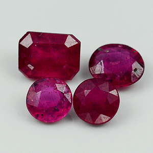 2.35 Ct. Beautiful Natural Red Pink Ruby Mozambique Gem