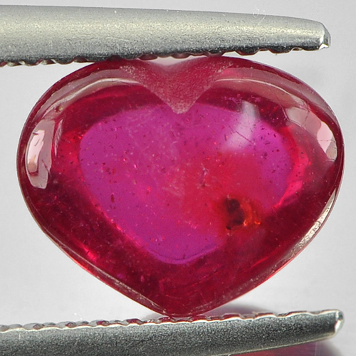 2.42 Ct. Charming Heart Cabochon Natural Blood Red Ruby