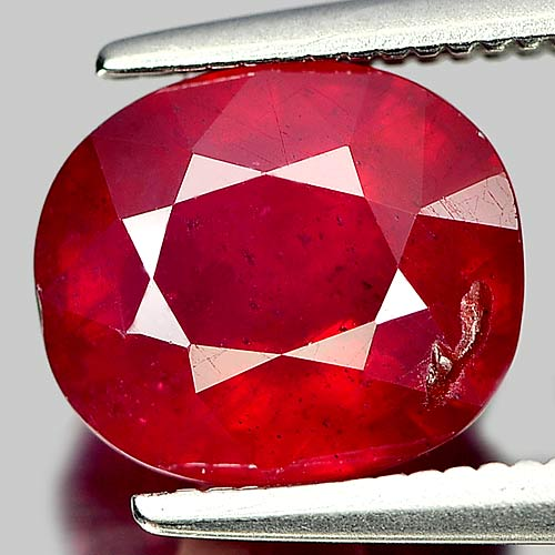 3.42 Ct. Beautiful Cushion Natural Gem Purplish Red Ruby Madagascar