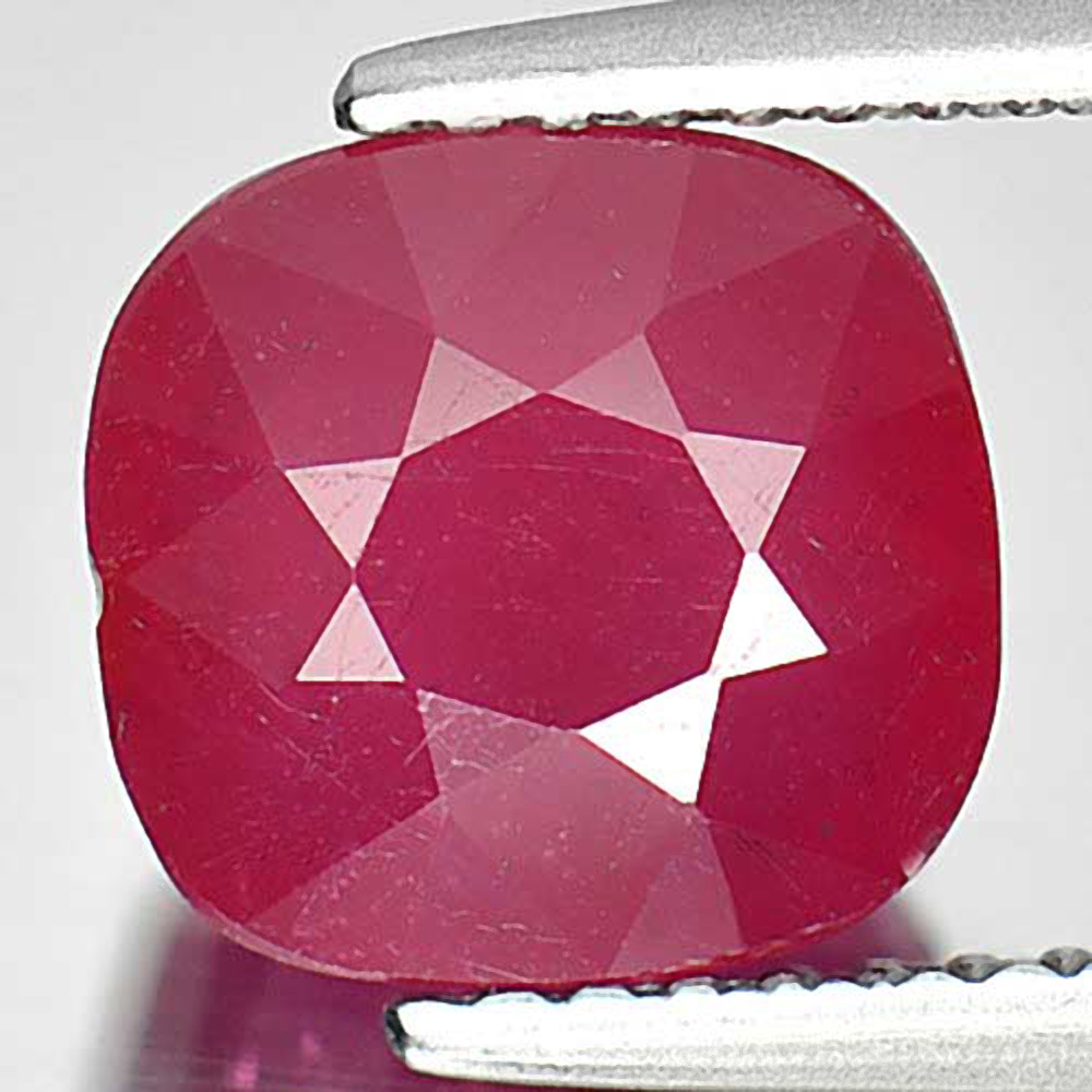 Alluring Gem 3.89 Ct. Cushion Natural Pinkish Red Ruby Mozambique