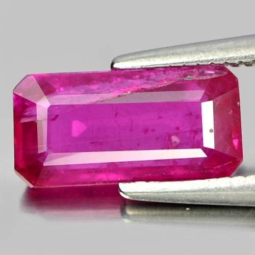 1.87 Ct. Octagon Natural Purplish Pink Ruby Mozambique