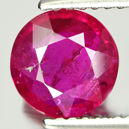 1.61 Ct. Round Natural Gem Purplish Pink Ruby Mozambique