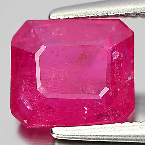2.25 Ct. Octagon Natural Gem Purplish Pink Ruby Madagascar