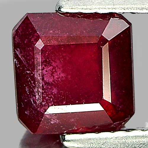 2.10 Ct. Octagon Natural Purplish Red Ruby Madagascar