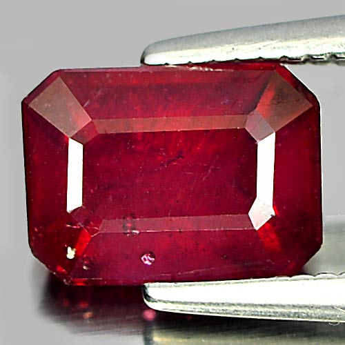 1.84 Ct. Octagon Natural Purplish Red Ruby Madagascar