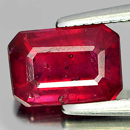 1.80 Ct. Octagon Natural Purplish Red Ruby Madagascar