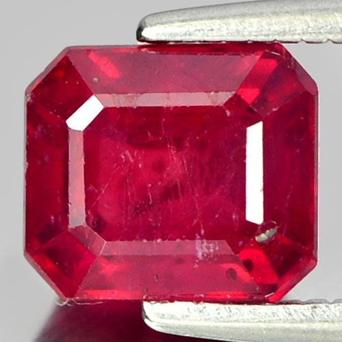 1.88 Ct. Octagon Natural Gem Pinkish Red Ruby Mardagascar