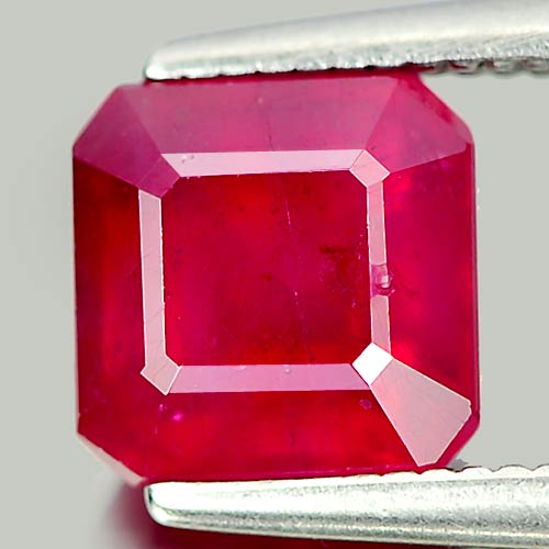 2.28 Ct. Octagon Shape Natural Pinkish Red Ruby Madagascar