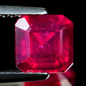 2.02 Ct. Octagon Shape 6.5 x 6.5 Mm. Natural Gemstone Purplish Red Ruby
