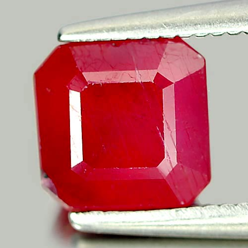 2.13 Ct. Octagon Natural Pinkish Red Ruby Madagascar