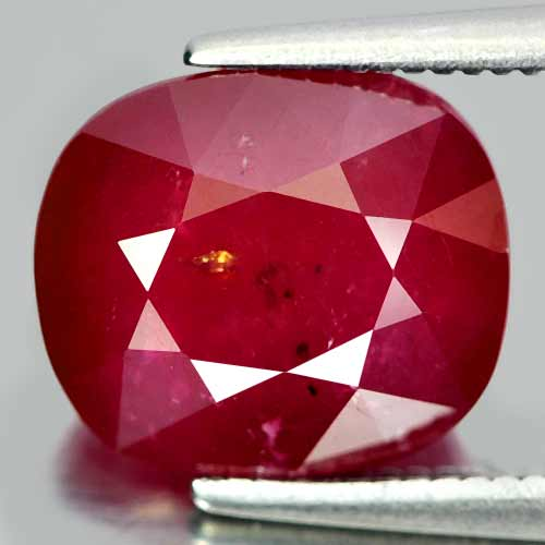 5.07 Ct. Cushion Natural Gem Pinkish Red Ruby Madagascar