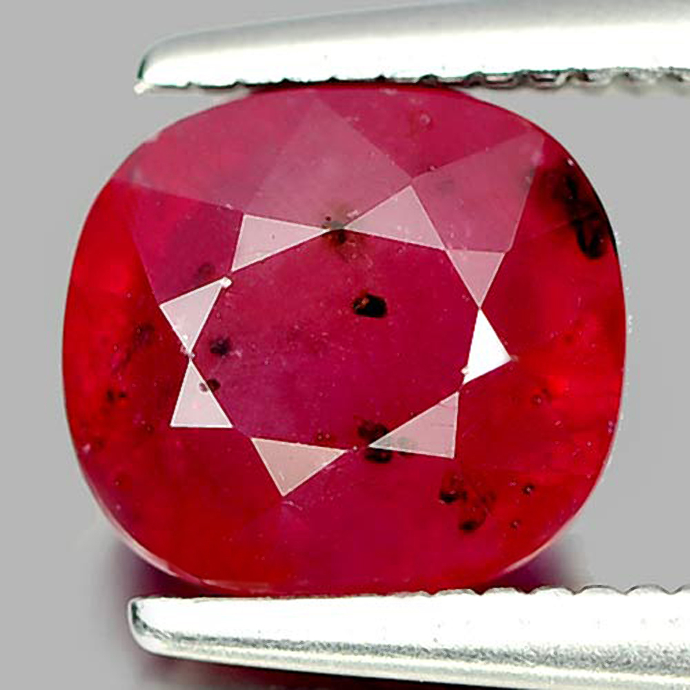 2.20 Ct. Cushion Natural Pinkish Red Ruby From Madagascar