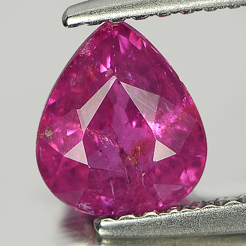 Certified Unheated Gem 1.17 Ct. Natural Purplish Pink Sapphire Pear Shape