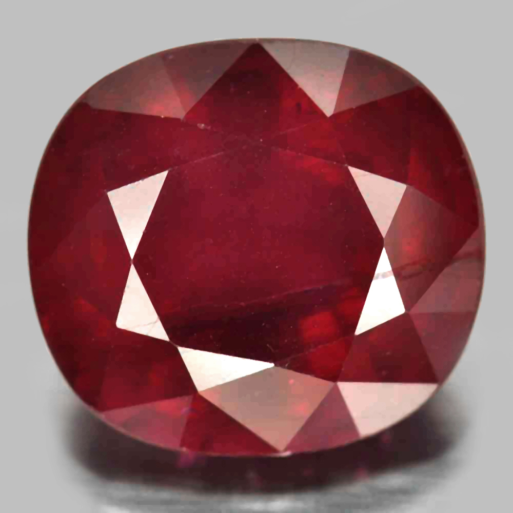 11.01 Ct. Cushion Shape Natural Gemstone Purplish Red Ruby From Madagascar