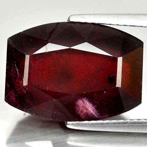 Natural Gemstone 15.35 Ct. Fancy Shape Purplish Red Ruby Madagascar