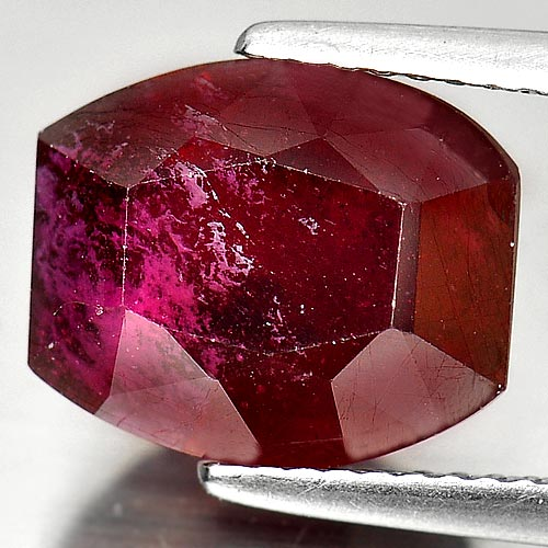 7.70 Ct. Fancy Shape Natural Gemstone Purplish Red Ruby Madagascar