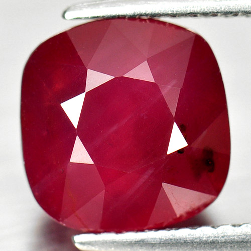 Beauty Gemstone 4.83 Ct. Cushion Shape Natural Purplish Red Ruby