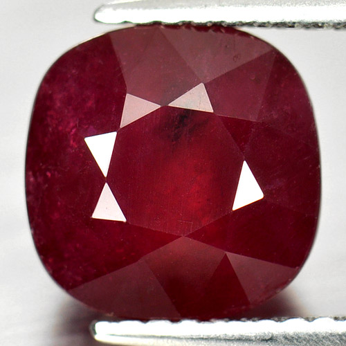 4.62 Ct. Beauty Gemstone Natural Purplish Red Ruby Cushion Shape
