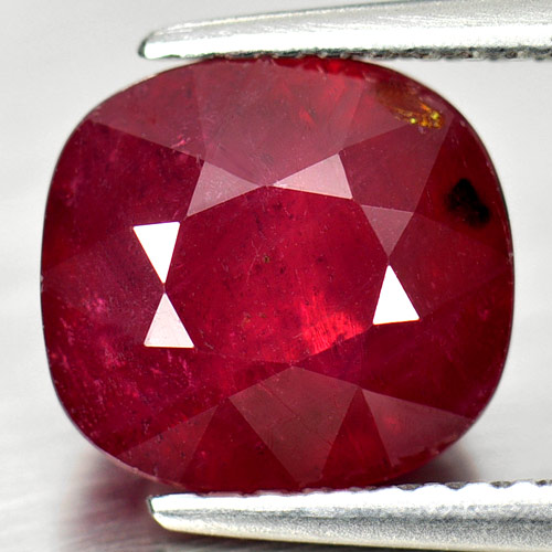 Beauty Gemstone 4.03 Ct. Natural Purplish Red Ruby Cushion Shape