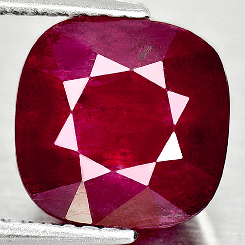 4.79 Ct. Natural Gemstone Purplish Red Ruby Cushion Shape From Madagascar
