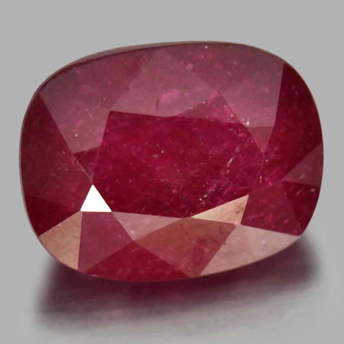 Gemstone 5.11 Ct. Cushion Shape Natural Purplish Red Ruby From Madagascar
