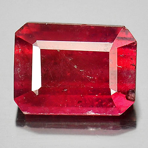 1.37 Ct. Natural Gem Purplish Red Ruby Octagon Shape Madagascar