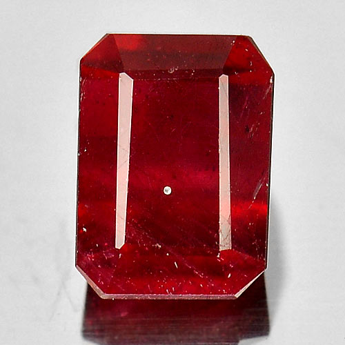 1.95 Ct. Octagon Shape Natural Purplish Red Ruby Gem Madagascar
