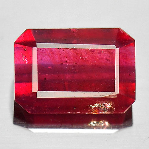 1.33 Ct. Octagon Natural Gem Pinkish Red Ruby Size 7 x 5 x 3 Mm.