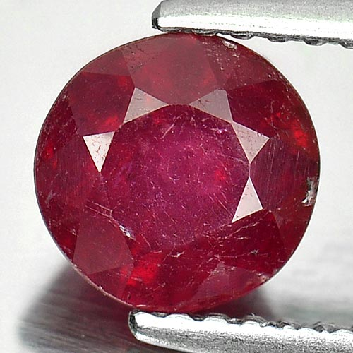 1.56 Ct. Round Shape Natural Gem Pinkish Red Ruby Madagascar