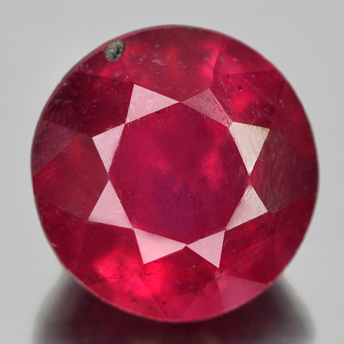 1.32 Ct. Good Round Natural Gem Pinkish Red Ruby From Madagascar